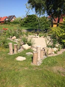 Der etwas andere Sandkasten einer Tagesmutter in Admannshagen bei Rostock.